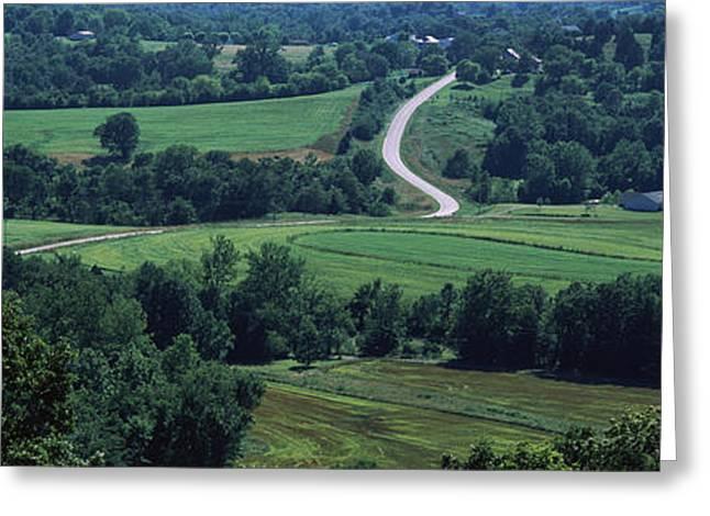 Winding Road Greeting Cards - Winding Road Passing Greeting Card by Panoramic Images