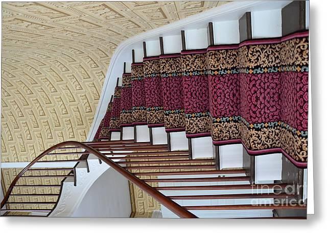 Struckle Greeting Cards - Winding Staircase Greeting Card by Kathleen Struckle