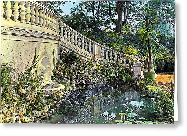 Pond Paintings Greeting Cards - Winding Staircase Greeting Card by Terry Reynoldson