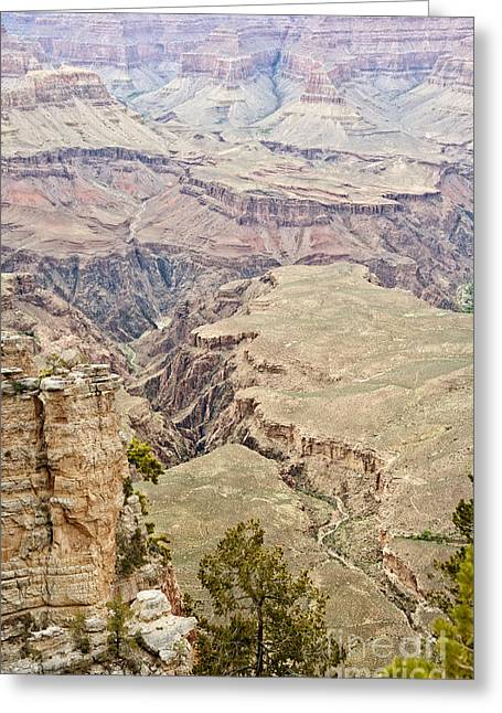 River View Greeting Cards - Winding through the Grand Canyon Greeting Card by Lee Craig