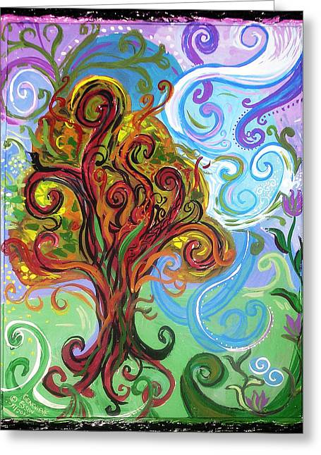 Healing Greeting Cards Greeting Cards - Winding Tree Greeting Card by Genevieve Esson