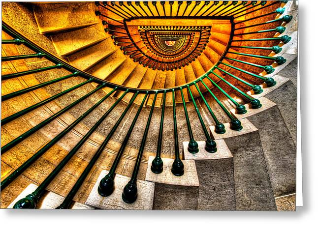 Symmetry Greeting Cards - Winding Up Greeting Card by Chad Dutson