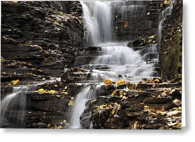 Winding Waterfall Greeting Card by Christina Rollo