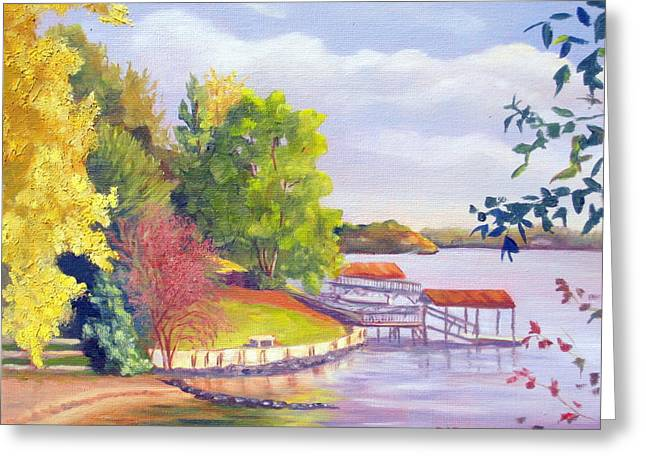 Lake Wylie Greeting Cards - Windjammer Park Greeting Card by Julia Rietz