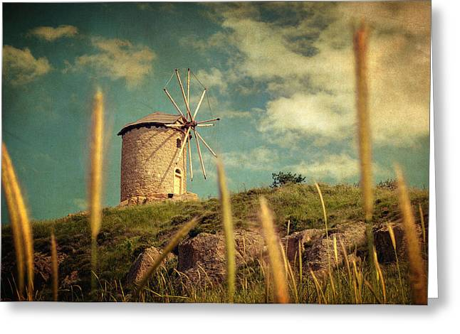 Texture Greeting Cards - Windmill 14 48 Greeting Card by Taylan Soyturk