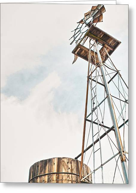 Aermotor Greeting Cards - Windmill And Tank Greeting Card by Robert Frederick