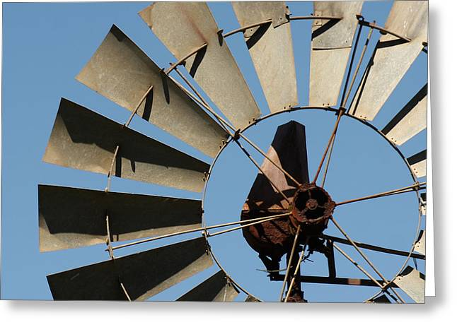 Cambria Greeting Cards - Windmill and the Sky Greeting Card by Art Block Collections