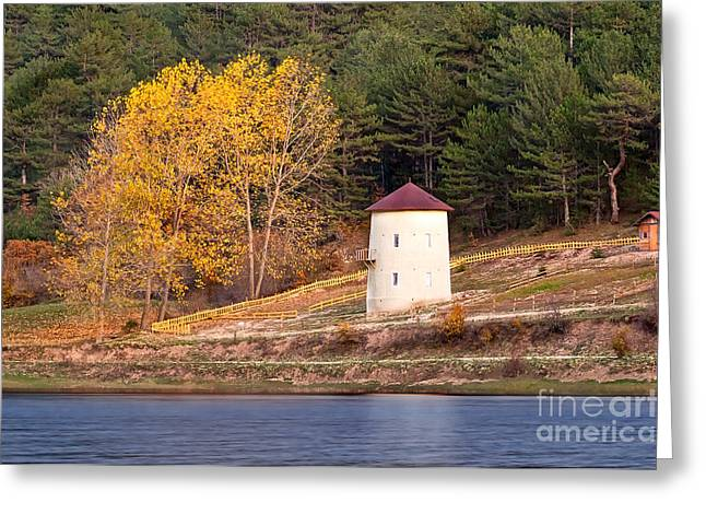 Exterior Wall Greeting Cards - Yellow Autumn Greeting Card by Leyla Ismet