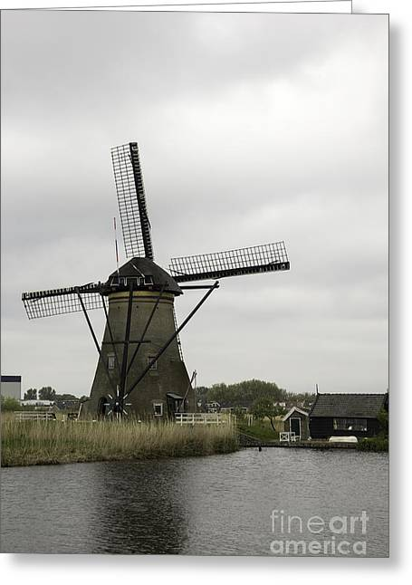 Outbuildings Greeting Cards - Windmill at Kinderdijk Greeting Card by Teresa Mucha