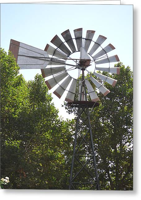 Abraham Lincoln Pictures Greeting Cards - Windmill Greeting Card by Barbara Snyder