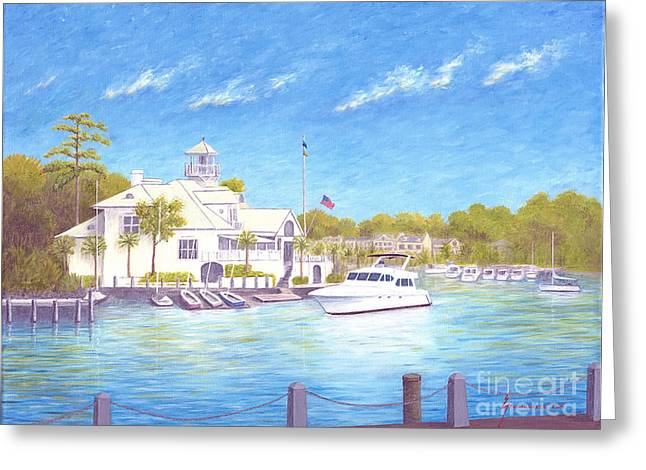 Jerome Stumphauzer Greeting Cards - Yacht at Hilton Head Island Greeting Card by Jerome Stumphauzer