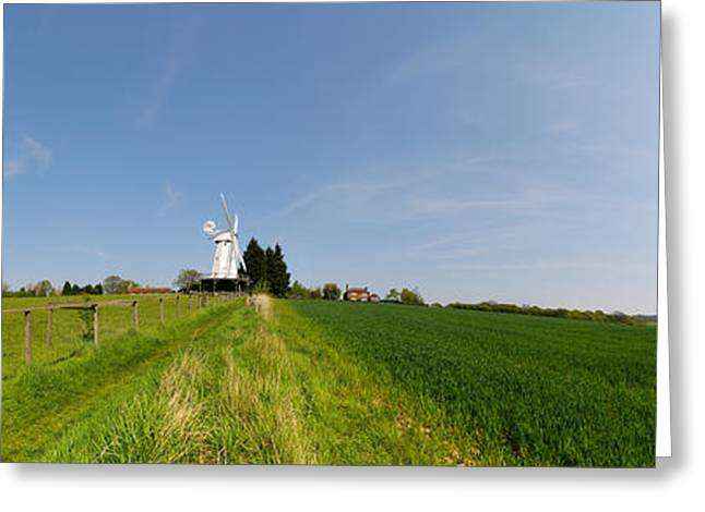 Kent Photography Greeting Cards - Windmill In A Farm, Woodchurch, Kent Greeting Card by Panoramic Images