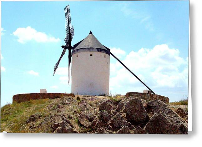 Consuegra Greeting Cards - Windmill in Spain Greeting Card by Kay Gilley