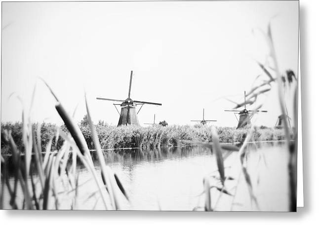 Grain Mill Greeting Cards - Windmill Greeting Card by Ivy Ho