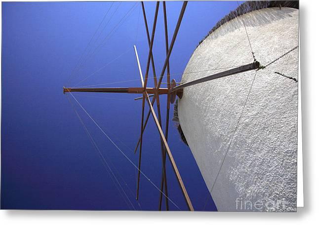 Byzantine Greeting Cards - Windmill masts Greeting Card by Deborah Benbrook