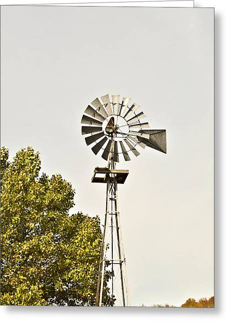 Clear Shoes Greeting Cards - Windmill Greeting Card by Melinda Pettery