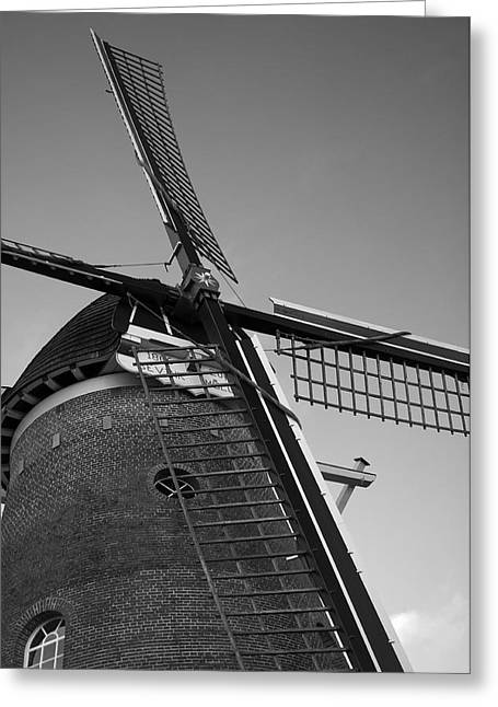 Wohnung Greeting Cards - Windmill Greeting Card by Miguel Winterpacht