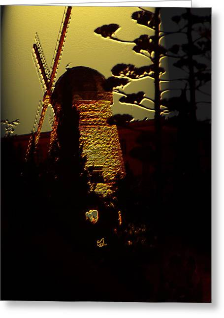 Generators Greeting Cards - Windmill of Montefiore Greeting Card by Music of the Heart