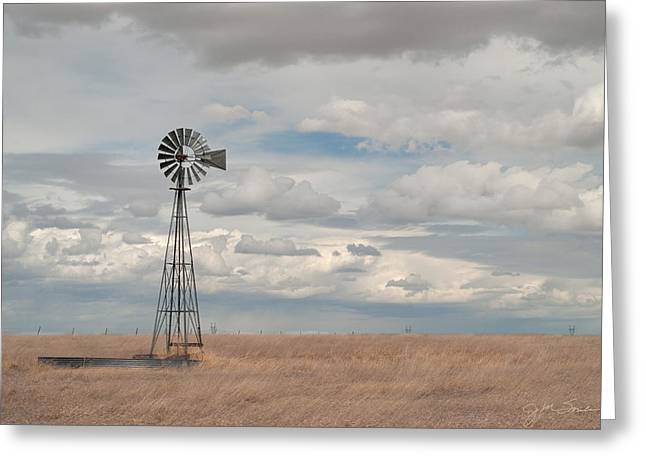 Julie Magers Soulen Greeting Cards - Windmill Picture Greeting Card by Julie Magers Soulen
