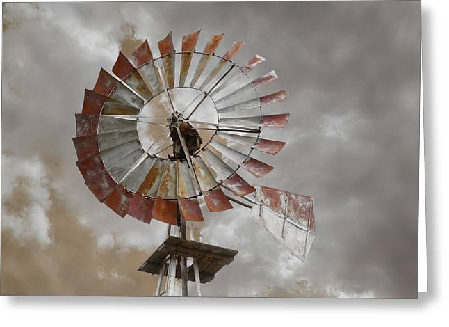 Windmill Greeting Card by Steven  Michael