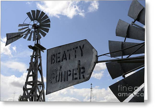 Windmills 1 Greeting Card by Bob Christopher