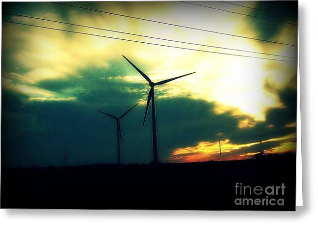 Generators Greeting Cards - Windmills In My Mind Greeting Card by Kayli Butler