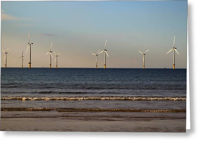 Generators Greeting Cards - Windmills in the Sea Greeting Card by Scott Lyons