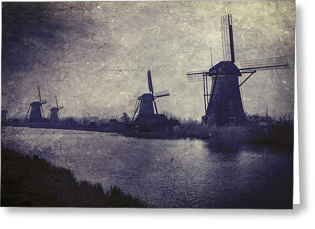 Water Mill Greeting Cards - Windmills Greeting Card by Joana Kruse
