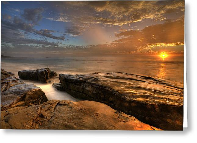 Hdr (high Dynamic Range) Greeting Cards - WindNsea Gold Greeting Card by Peter Tellone