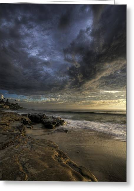 Storm Clouds Greeting Cards - WindNSea Stormy Sky Greeting Card by Peter Tellone