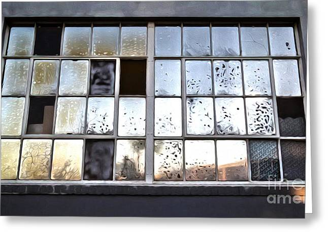 Oily Window Too Greeting Card by Gregory Dyer