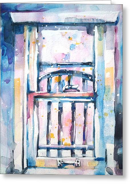 Splashy Paintings Greeting Cards - Window 1 Greeting Card by Kelly Johnson