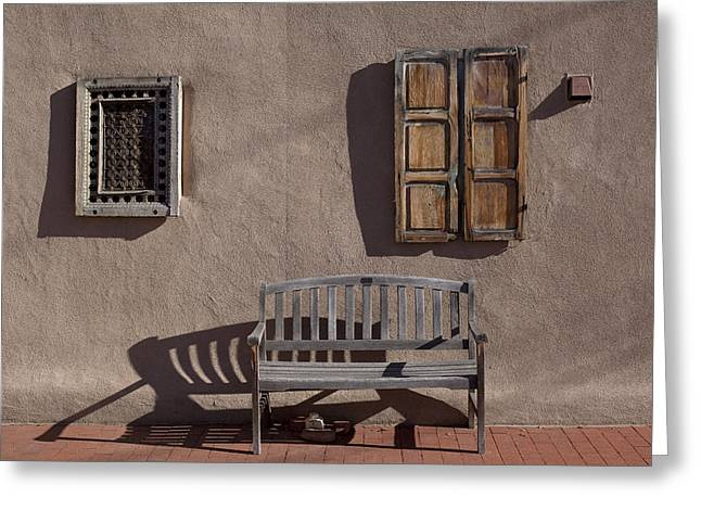 Lily Greeting Cards - Window and Bench Greeting Card by Lily