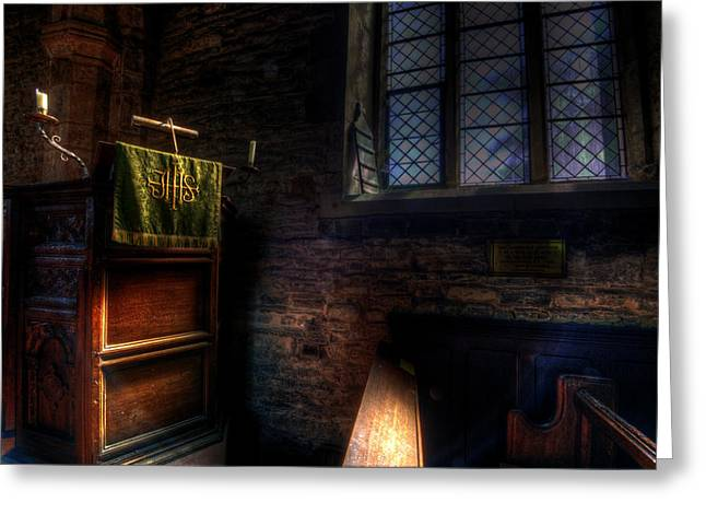 Sacred Digital Greeting Cards - Window and pulpit Greeting Card by Nathan Wright