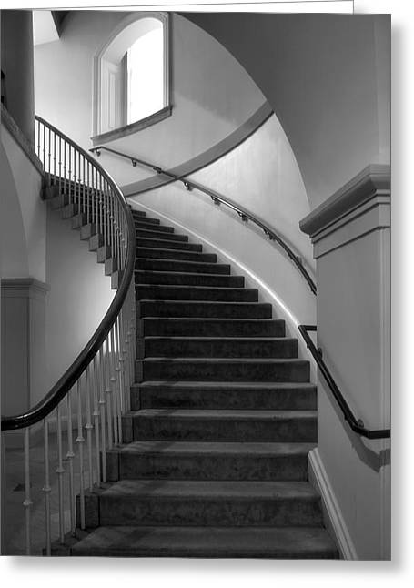 Architecture Metal Prints Greeting Cards - Window And Stairway II Greeting Card by Steven Ainsworth