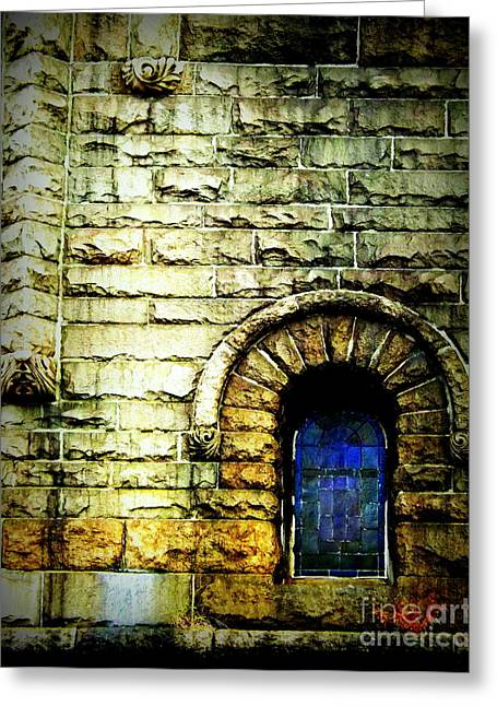 Ecru And Brown Greeting Cards - Window and Wall Greeting Card by James Aiken