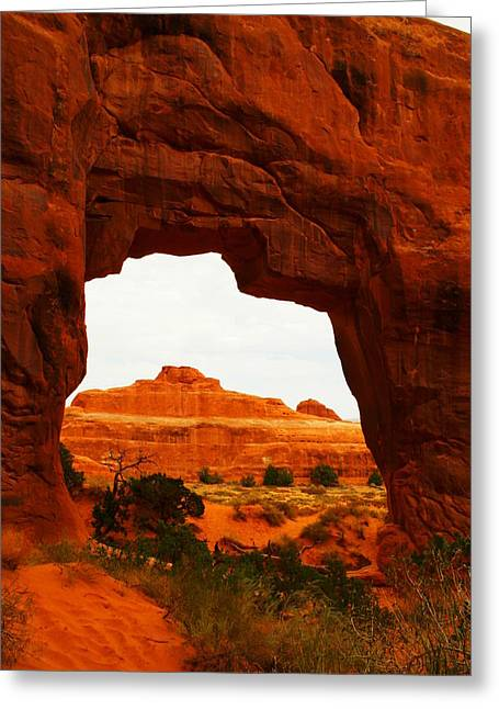 Southwestern Photography Greeting Cards - Window Arch Greeting Card by Jeff  Swan