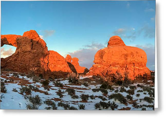 Cellphone Greeting Cards - Window Arch Greeting Card by Jonathan Nguyen
