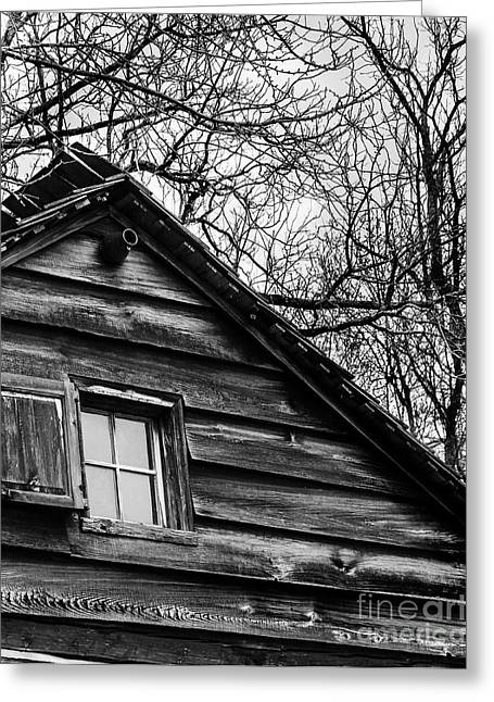 Charlotte Museums Greeting Cards - Window at Log Kitchen Greeting Card by Robert Yaeger