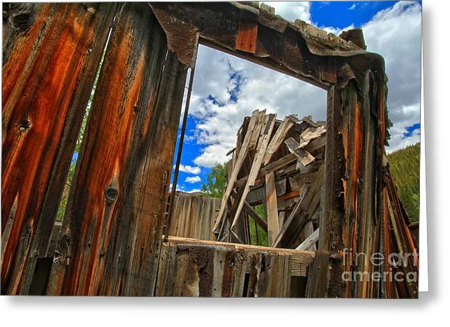Ironton Greeting Cards - Window Back In Time Greeting Card by Adam Jewell