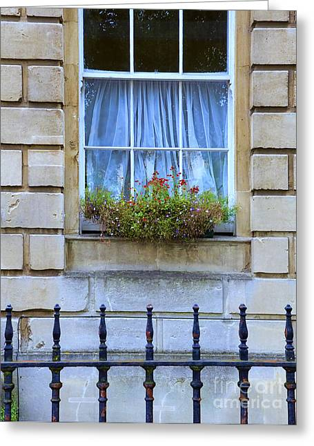 Charming Town Greeting Cards - Window Box Greeting Card by Jill Battaglia