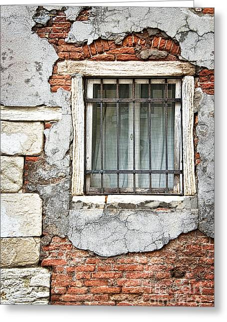Romanticism Greeting Cards - Window Greeting Card by Delphimages Photo Creations