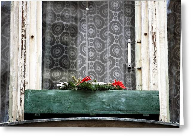 Flower Planter Greeting Cards - Window Flowers in Prague Greeting Card by John Rizzuto