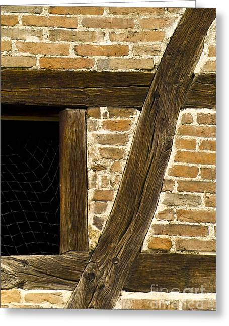 Swiss Culture Greeting Cards - Window Frame Detail 1 Greeting Card by Heiko Koehrer-Wagner