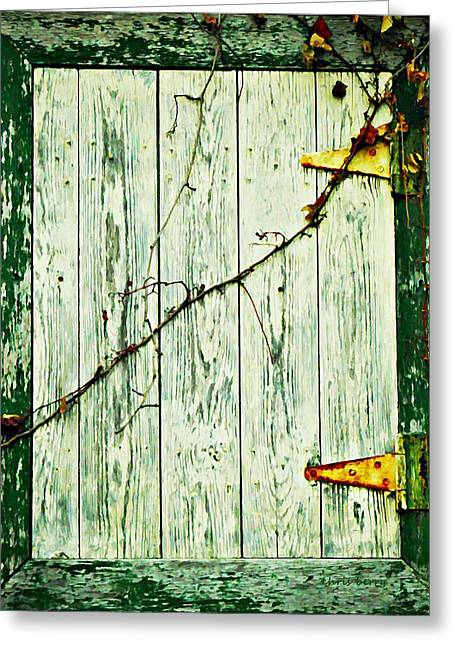 Vine Leaves Greeting Cards - Window Hatch Greeting Card by Chris Berry