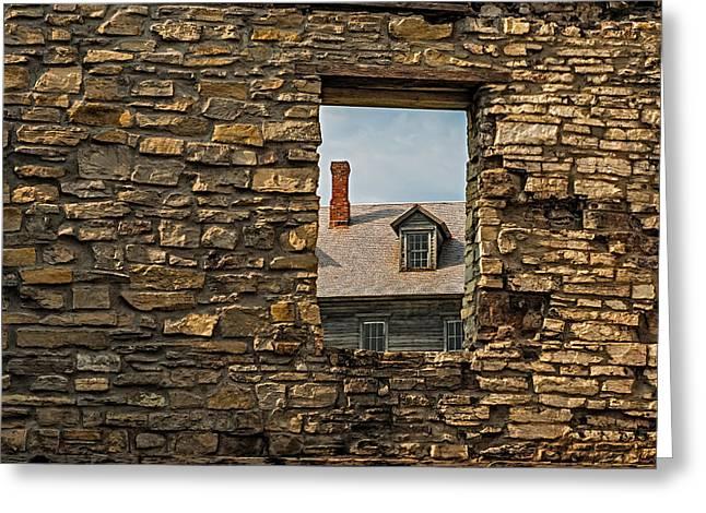Window In A Window Greeting Card by Paul Freidlund