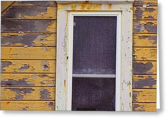 Window in Abandoned House Greeting Card by Jill Battaglia