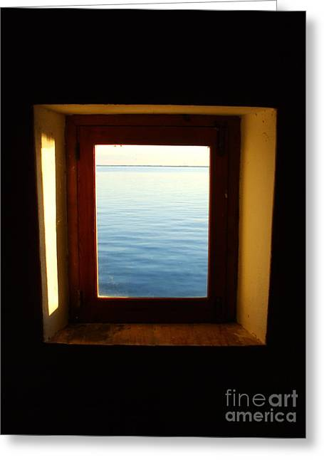 Recently Sold -  - Glass Wall Greeting Cards - Window in Infinity Greeting Card by Tatiana Cortina