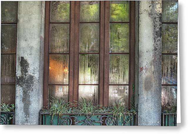 Window in the Quarter Greeting Card by Brenda Bryant