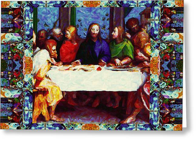 Bible Digital Art Greeting Cards - Window Into The Last Supper 20130130p0 Greeting Card by Wingsdomain Art and Photography